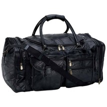 "Embassy™ Italian Stone™ Design Genuine Leather 25"" Tote Bag Duffle Luggage - $44.99"