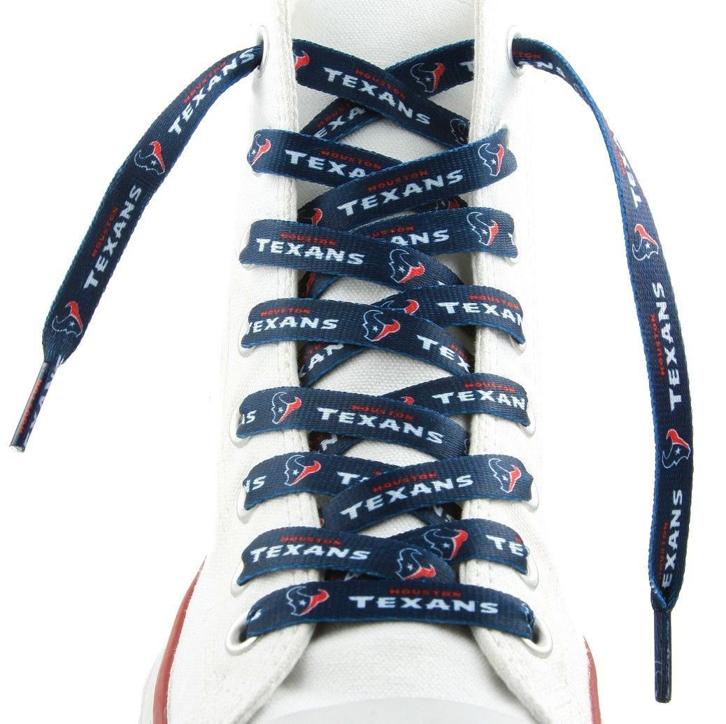 """HOUSTON TEXANS TEAM SHOE LACES 54"""" *LACEUPS* GAME DAY PARTY NFL FOOTBALL"""