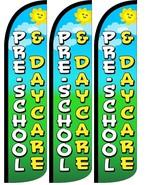 Preschool & Daycare   Windless Standard Size  Swooper Flag Sign Banner P... - $47.99