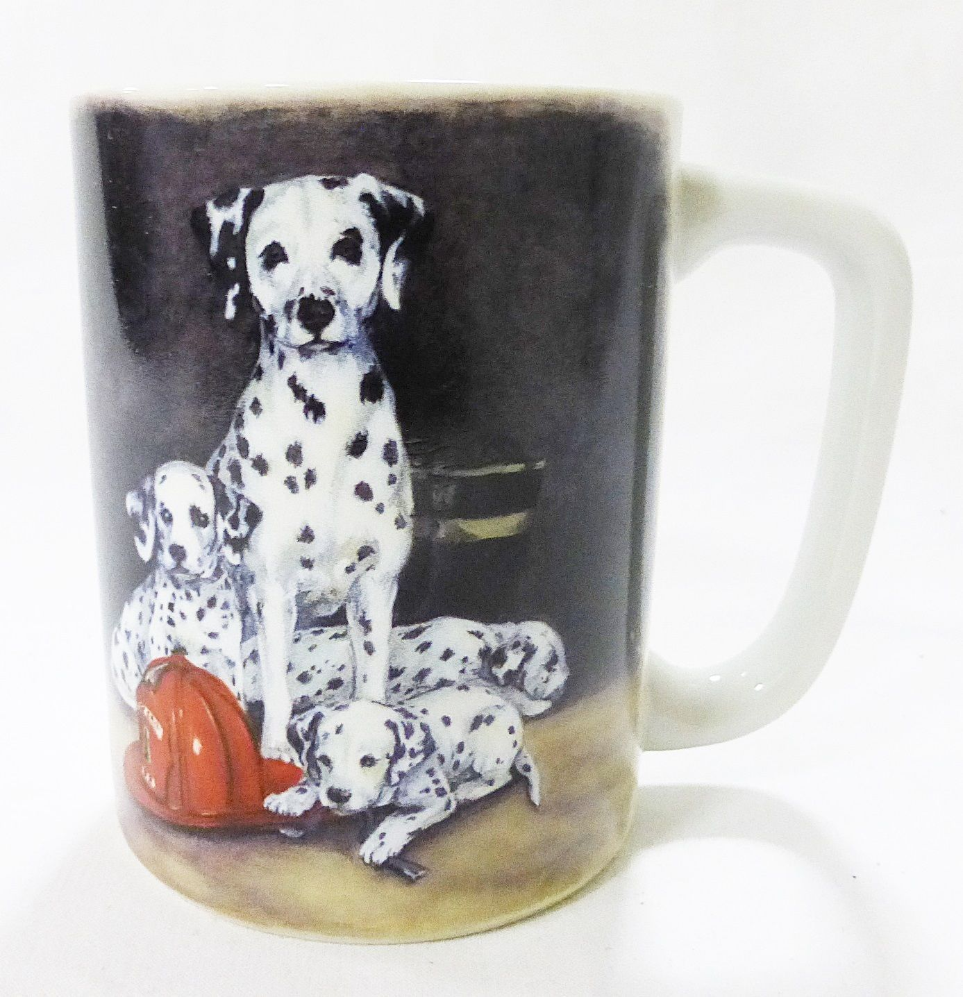 Otagiri japan dalmatian coffee mug cup fireman puppy dog linda picken vintage - $18.80