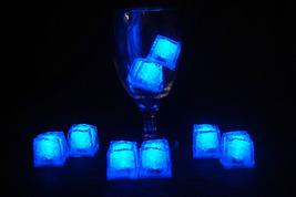 Set of 8 Litecubes Jewel Color Tinted Sapphire Blue Light up LED Ice Cubes - $24.45 CAD
