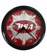 New Custom Black Wall Clock BSA Motorcycle Logo - $16.46