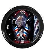 New Custom Black Wall Clock Barber Shop Logo - $16.46