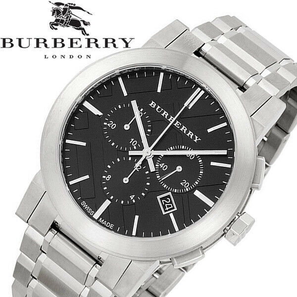 Authentic Burberry Unisex BU9351 Large Check Stainless Steel Bracelet Watch - $296.99