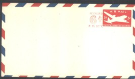 5 cents Air Mail Stamped Envelope revalued at 6 cents unused entire #UX21 - $4.99