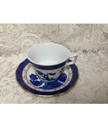 Vintage, Royal Doulton Booths Real Old Willow 2-pc Blue Willow Cup and S... - $23.70