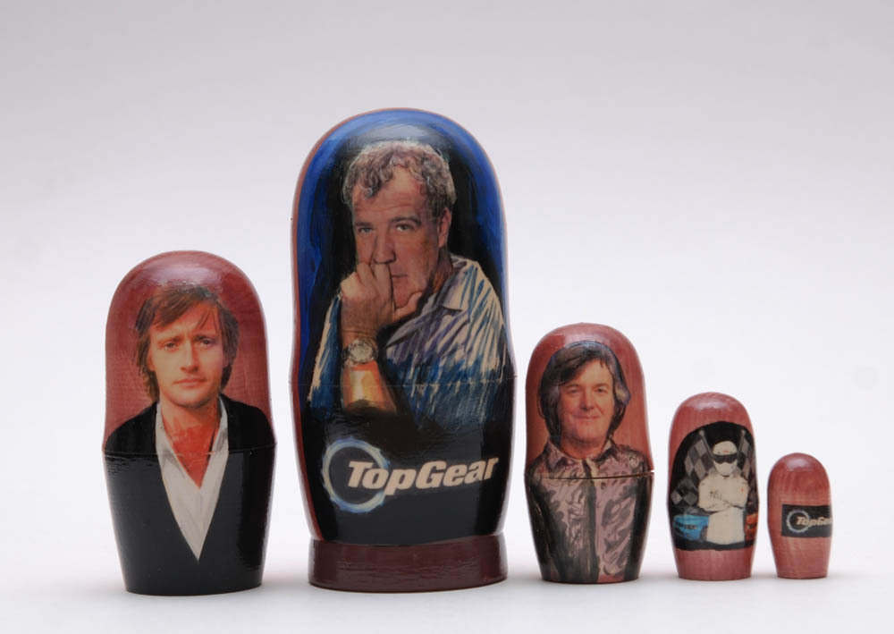 Top Gear Exclusive Nesting Dolls 5pc matryoshka doll nesting doll, 6""