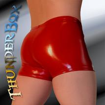 Thunderbox Glossy Red PVC Gladiator Shorts S, M - $25.00