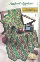 Football Afghan Crochet Pattern~RARE~HTF - $34.99