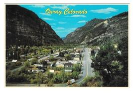 Colorado Ouray Aerial View Rocky Mountains Vintage 4X6 Petley Postcard - $4.99