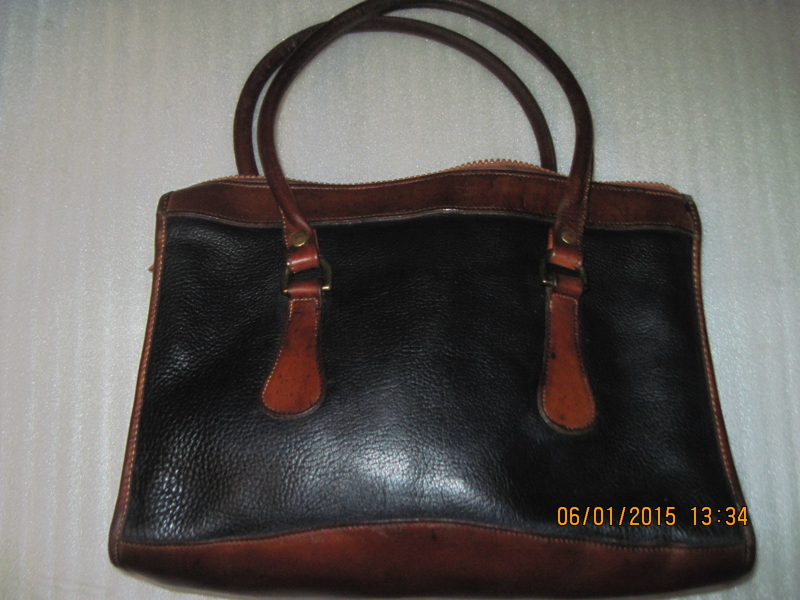 vintage dooney and bourke leather doctor tote bag