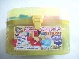 New Craft Kits Animal Stamp Kit Paint Sponges Mixing Tray Paint Brush Bu... - $9.99