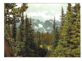 Colorado Rocky Mountains Continental Divide Vintage Motisher Postcard 4X6 - $4.99