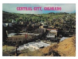 Colorado Central City Birds Eye View Vintage Easterling 4X6 Postcard - $4.99