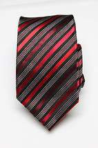 NEW Men's Alfani Spectrum Red Fresh Stripe Tie One Size - $12.66