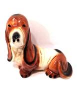 Basset Hound Dog Coin Bank Vintage Ceramic Figurine 8.75 inches Tall Puppy - $37.62