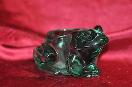 Candle-Lite Indiana Glass Frog Candle Holder Green Spanish Figural Votiv... - $28.04