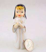 Vintage porcelain nun holding candle figurine m... - $12.00