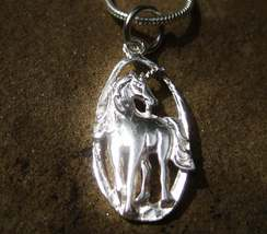 Moonstar7spirits Unicorn spirit pendant 925 sterling silver Magickal good luck - $44.20