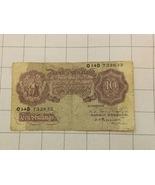 Bank Of England 10 Shillings Bank Note - $35.00
