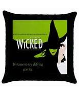 WICKED A New Broadway Musical Black Cushion Cover Throw Pillow Case - $14.63