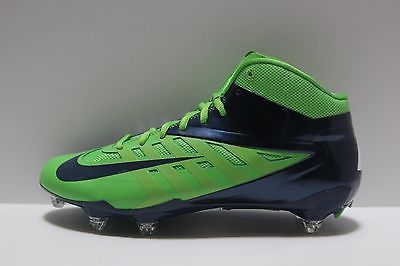 Nike Vapor Talon Elite Hyperfuse TD 3/4 Mid Football Cleats NFL Blue Green 14.5