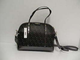 DKNY cross body handbag black coated logo new - $148.44