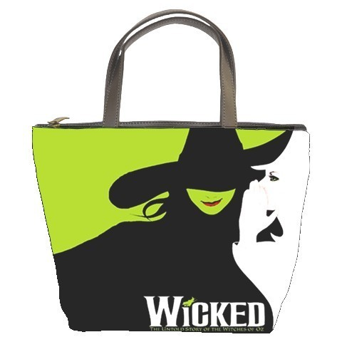 WICKED A New Broadway Musical Bucket Bag/Purse(2  Side)
