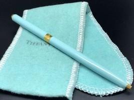 Tiffany & Co. Blue Enamel and Gold Tone Ball Point Pen  - $186.19