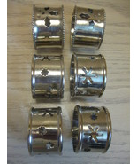 Silver Plate/Tone Napkin Rings Qty 6 with Pierc... - $9.95