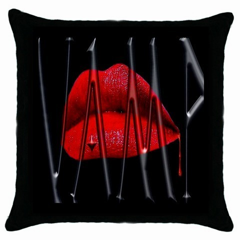 vampire Lips New Black Cushion Cover Throw Pillow Case-HOT