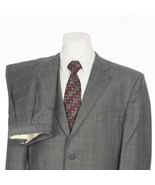 Jack Victor Valencia Gray Glen Plaid Wool Two Button Suit 41R 41 Regular 34x30 - $49.32