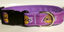 Handmade LA Lakers Dog Collar Adjustable Nylon - $11.26+