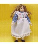 Dollhouse Teen Girl blue print dress Heidi Ott banana curls NEW HOXC502 - $81.70