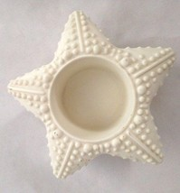 """White Ceramic 4"""" Partylite Star Candle Holder w... - $6.89"""