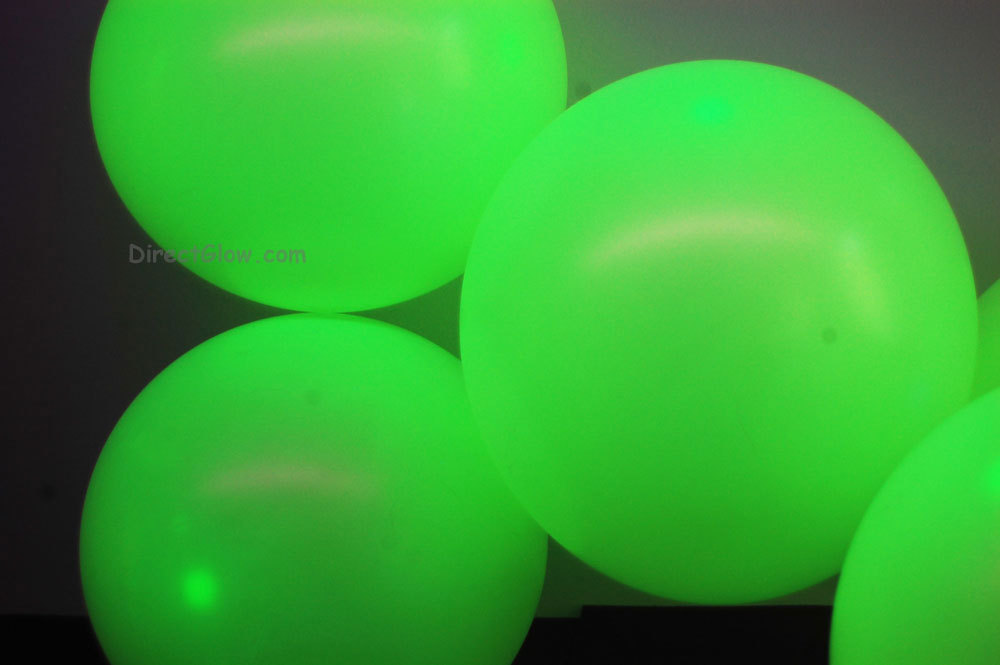 11 inch Yellow Blacklight Reactive Latex Balloons- 100 pack