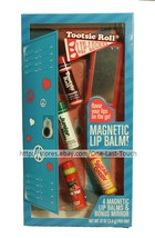 LOTTA LUV 5pc MAGNETIC BALM+MIRROR Lip Locker Set TOOTSIE ROLL+SUGAR DAD... - $8.99