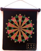 Dart Board & BaseBall Game 5 Safe Darts Hanging... - $14.10