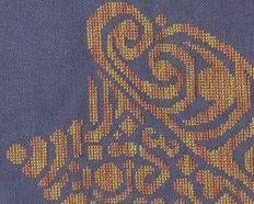 Tribal Conch Shell monochrome cross stitch chart White Willow stitching