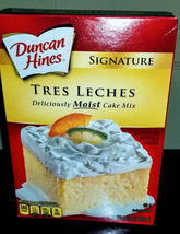 Duncan Hines Signature Tres Leches Deliciously MOIST Cake Mix  - $10.59