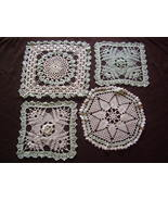 Vintage - Crochet Doillies - mint green and white - $25.00