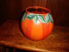 Glass Halloween Pumpkin Bowl Candle or Votive Holder - $9.49