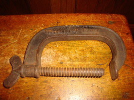 Vintage Woodruff Eagle # 4 Hand Clamp Antique Tool - $16.81
