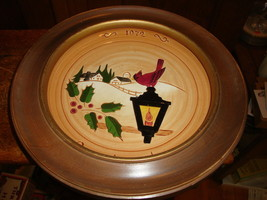 Countryside 1972 Christmas Plate Original Glen View Pottery Hand Crafted - $15.87