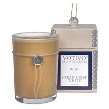 3 Votivo Clean Crisp White #19 Aromatic Candles Plus Free Shipping - $84.00