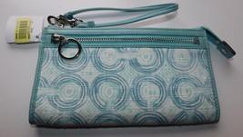 Coach Audrey OP Art Swirl Zippy Wallet Wristlet 45531 Brand New - $103.45