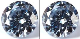 2 SAPPHIRES AQUA LIGHT BLUE 10.00 mm. ROUND LOOSE HARDNESS 9 DIAMOND-SPA... - $28.88