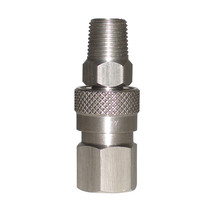 """Stainless Steel 1/8"""" NPT Gas Hose Quick Disconnect Set CO2 HPA Compresse... - $14.50"""
