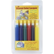 Sakura 3D Crystal Lacquer 6 PRIMARY Color Applicator Pen Set 03001 hobby... - $14.92