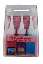 Sakura Pearl Color Lacquer Set B 3 bottles 03034 hobby craft Pink Lavend... - $13.98